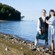 Woman and man in scottish costume — Stock Photo #7216951