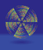 Rainbow windmill — Stock Vector