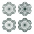 Set of vector guilloche rosettes — Stock vektor
