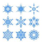 Snowflake set — Stock Vector