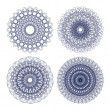 Royalty-Free Stock Vector Image: Set of vector guilloche rosettes