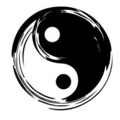 Yin yang vector symbol — Stock Vector