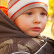 Little boy crying outdoors — Stock Photo #7351122