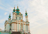 St. Andrew church in Kiev, Ukraine in the morning — Stock Photo