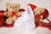 White Baby Shoes — Stock Photo
