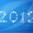 Happy new year 2012 message over blue background — Stock Photo
