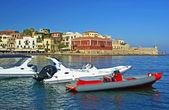 Quay in the Greek city — Stockfoto