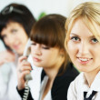 Meeting of young business ladies — Photo