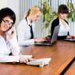 Meeting of young business ladies — Stock Photo #7005666