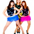 Three pretty dancers — Stock Photo