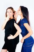 Gossiping women — Stock Photo