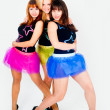 Stock Photo: Three pretty dancers