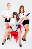 Banda musical de chicas — Foto de Stock