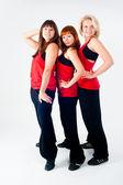 Group of dancing girls — Stock Photo
