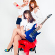 Stock Photo: Musical band of girls