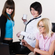 Three pretty businesswomen — Stock Photo #7956066