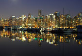 Vancouver downtown, night — Stock Photo