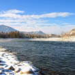 Stok fotoğraf: Winter landscape with Katun river at Altai mountains