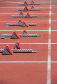 Athletics Starting Blocks — Stock Photo