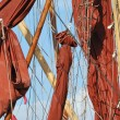 Barge rigging — Stock Photo