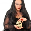 Gothic woman with skill — Stock Photo #7312654