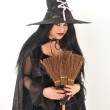 Witch with big hat — Stock Photo #7312694