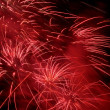 Bright red fireworks — Stock Photo