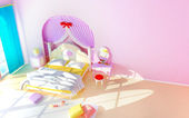 Princess room — Stock Photo