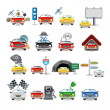 Cars icon set — Stock Vector #7192240