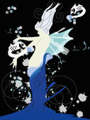 Sea fairy — Stock Vector