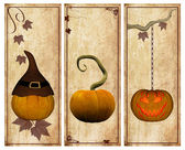 Pumpkins vintage postcards — Stock Photo