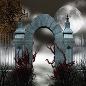 Gothic gate — Stock Photo