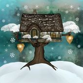 Winter refuge — Stock Photo