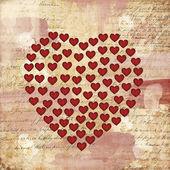 Serca na wzór papieru — Zdjęcie stockowe