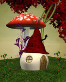 Elves strange house — Stock Photo