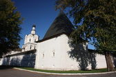 Rusko, moskva. spasitel klášter andronicu. věž. — Stock fotografie