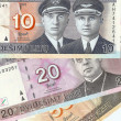 Royalty-Free Stock Photo: Lithuanian banknotes, 10, 20 and 50 Lithuanian litas.