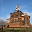 Moscow. The wooden church at Manor Kolomenskoe. — Stock Photo