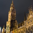 The new city hall at the Marienplatz in Munich — Stock Photo