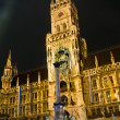 Marienplatz in Munich at night — Stock Photo