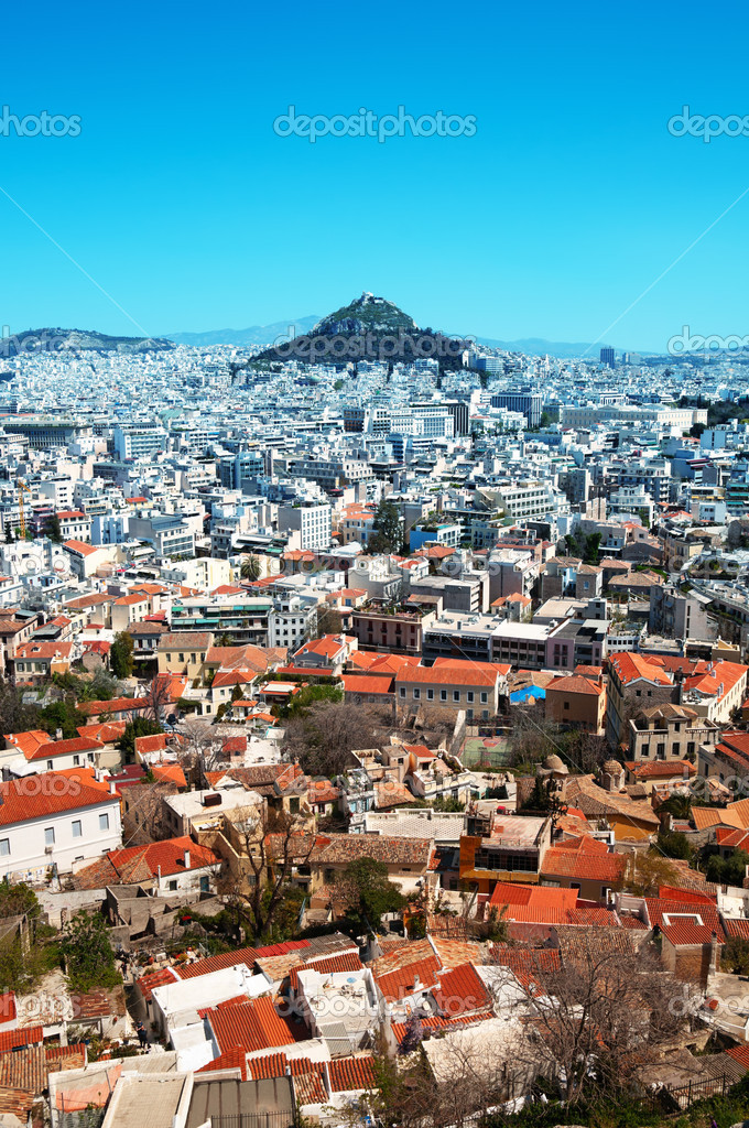 View of Lycabettus Hill from the Acropolis. — Stock Photo #6952322
