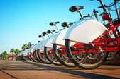 Bikes for Rent in Barcelona - Spain. — Stock Photo