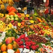 Fruits at BoqueriMarket in Barcelon- Spain — Stock Photo #7627372