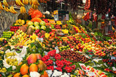 Fruits at Boqueria Market in Barcelona - Spain — Stock Photo