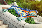 Lizard Fountain at Park Guell. — Stock Photo