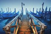 Gondollar, venedik - i̇talya — Stok fotoğraf