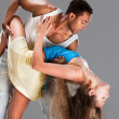 Young couple dances Caribbean Salsa — Stock Photo #7821480