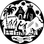 アフリカのメディック — ストックベクタ