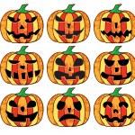 A set of halloween pumpkins — Stock Vector