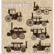 Steam-punk cars — Imagen vectorial